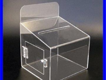 Caixa de sugestões com abertura de lado